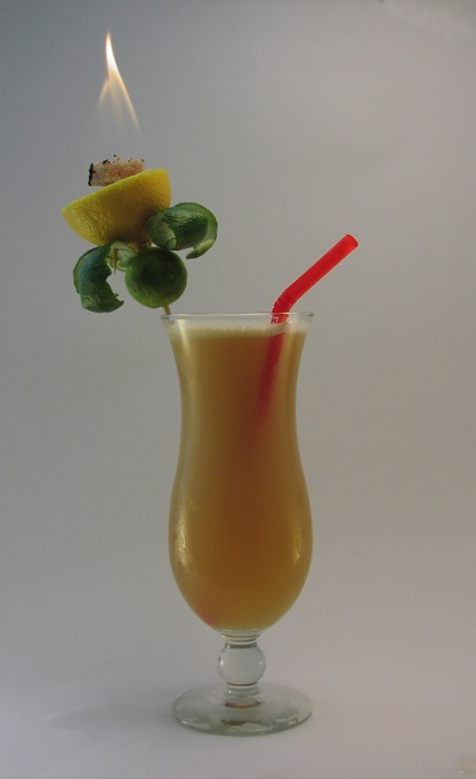 Miehana with Flaming Garnish